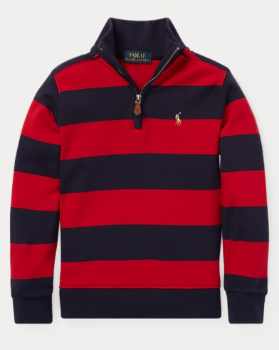 폴로 랄프로렌 남아용 스트아리프 풀오버 레드 Polo Ralph Lauren Striped Cotton Pullover,Park Avenue Red Multi