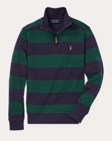 폴로 랄프로렌 보이즈 스트라이프 풀오버 그린 Polo Ralph Lauren Striped Cotton Pullover,College Green Multi