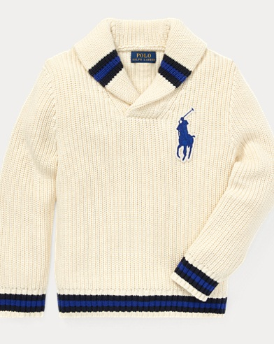 폴로 랄프로렌 남아용 숄 카라 스웨터 Polo Ralph Lauren Cotton Shawl-Collar Sweater,Guide Cream