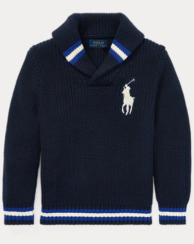 폴로 랄프로렌 남아용 숄 카라 스웨터 Polo Ralph Lauren Cotton Shawl-Collar Sweater,Hunter Navy