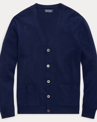 폴로 랄프로렌 Polo Ralph Lauren Merino Wool V-Neck Cardigan,French Navy