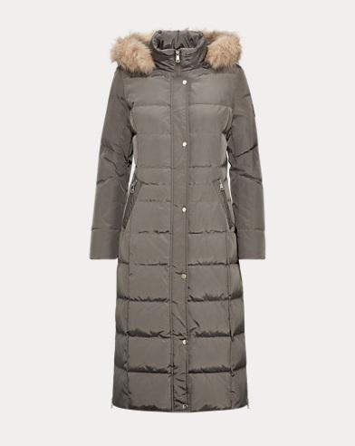 폴로 랄프로렌 우먼 후드퍼 롱패딩 플란넬 Polo Ralph Lauren Quilted Hooded Down Coat, Flannel