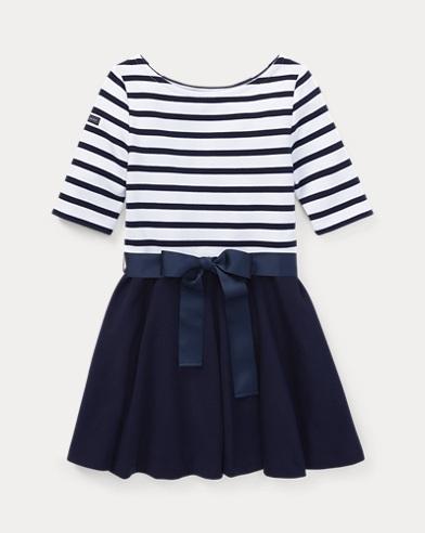 폴로 랄프로렌 Polo Ralph Lauren Two-Tone Ponte Dress,French Navy/White