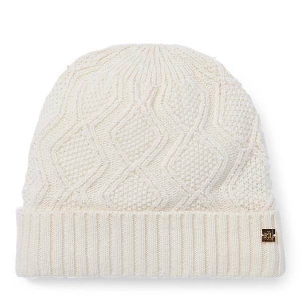 Ralph Lauren - Mütze mit Zopfmuster und Perlen - 1