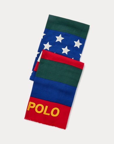 폴로 랄프로렌 Polo Ralph Lauren Downhill Skier Scarf,Black Multi