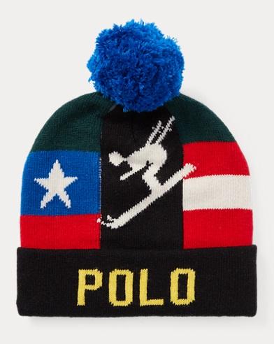 폴로 랄프로렌 다운힐 스키어 방울 비니 모자 Polo Ralph Lauren Downhill Skier Hat,Black/Multi