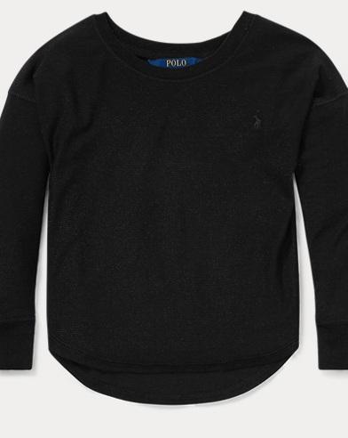 폴로 랄프로렌 Polo Ralph Lauren Metallic Jersey Top,Polo Black