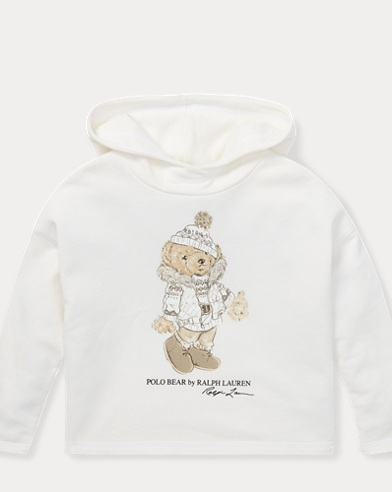 폴로 랄프로렌 걸즈 후드티 Polo Ralph Lauren Holiday Bear Hoodie,Nevis