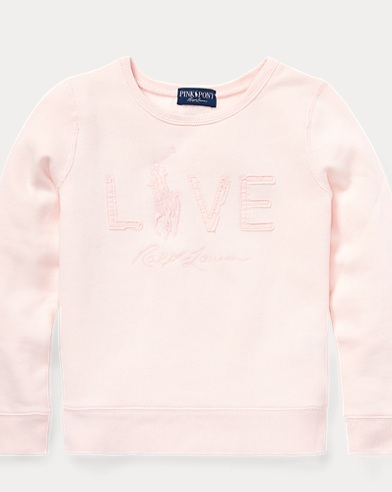 폴로 랄프로렌 걸즈 맨투맨/스웻셔츠 핑크 Polo Ralph Lauren Pink Pony Live Love Sweatshirt,Love Pink