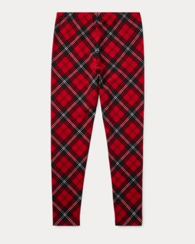 폴로 랄프로렌 걸즈 레깅스 레드/블랙 Polo Ralph Lauren Tartan Jersey Legging,Red/Black Multi