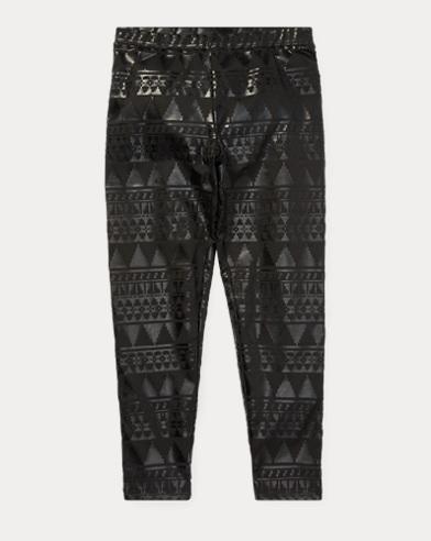 폴로 랄프로렌 걸즈 레깅스 블랙 Polo Ralph Lauren Snowflake-Print Jersey Legging,Polo Black