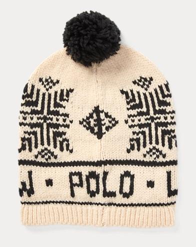 폴로 랄프로렌 걸즈 눈송이 털모자 크림 Polo Ralph Lauren Polo Snowflake Pom-Pom Hat,Cream