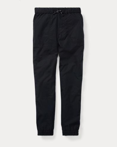 폴로 랄프로렌 보이즈 코튼 포플린 조거 팬츠 블랙 Polo Ralph Lauren Cotton Poplin Jogger Pant,Polo Black