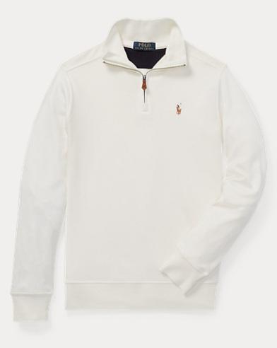폴로 랄프로렌 보이즈 하프 짚업 풀오버 크림 Polo Ralph Lauren Cotton Half-Zip Pullover,Chic Cream