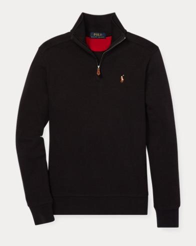 폴로 랄프로렌 보이즈 하프 짚업 풀오버 블랙 Polo Ralph Lauren Cotton Half-Zip Pullover,Polo Black