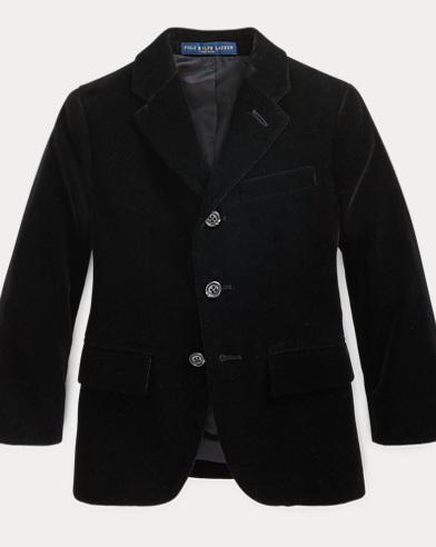 폴로 랄프로렌 남아용 벨벳 코트 블랙 Polo Ralph Lauren Polo Velvet Sport Coat,Black