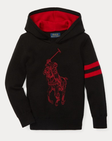 폴로 랄프로렌 남아용 후드티 Polo Ralph Lauren Big Pony Merino Wool Hoodie,Polo Black