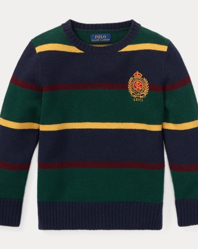 폴로 랄프로렌 남아용 스웨터 Polo Ralph Lauren Striped Merino Wool Sweater, Hunter Navy Multi