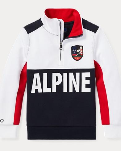 폴로 랄프로렌 남아용 하프 집업 풀오버 Polo Ralph Lauren Double-Knit Half-Zip Pullover,White Multi