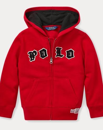 폴로 랄프로렌 남아용 집업 후드티 레드 Polo Ralph Lauren Cotton-Blend-Fleece Hoodie,Park Avenue Red