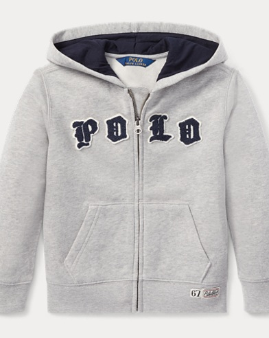 폴로 랄프로렌 남아용 집업 후드티 Polo Ralph Lauren Cotton-Blend-Fleece Hoodie,Andover Heather
