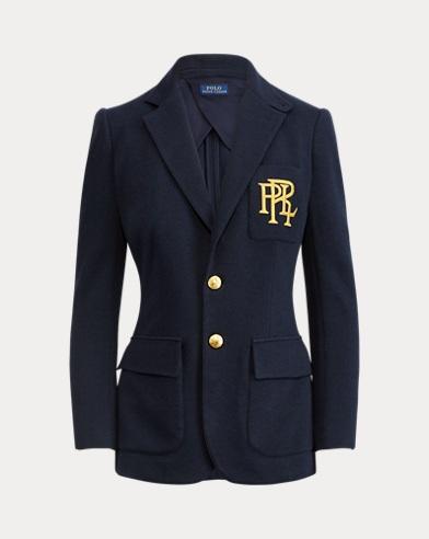 폴로 랄프로렌 우먼 블레이저 Polo Ralph Lauren Knit Cotton Blazer,Park Avenue Navy