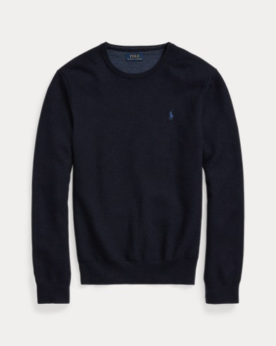 폴로 랄프로렌 맨 코튼 크루넥 스웨터 Polo Ralph Lauren Cotton Crewneck Sweater,Navy Heather 489739