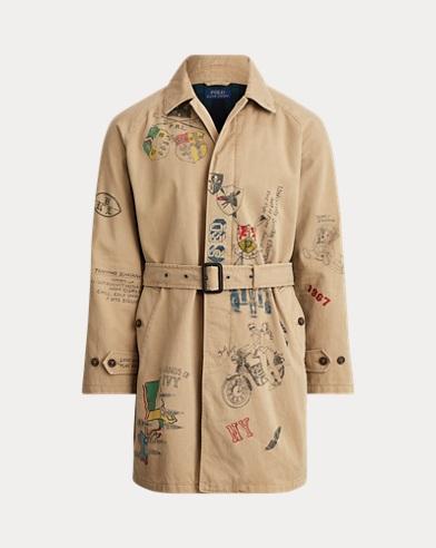 폴로 랄프로렌 Polo Ralph Lauren Cotton Twill Balmacaan Coat,Desert Khaki