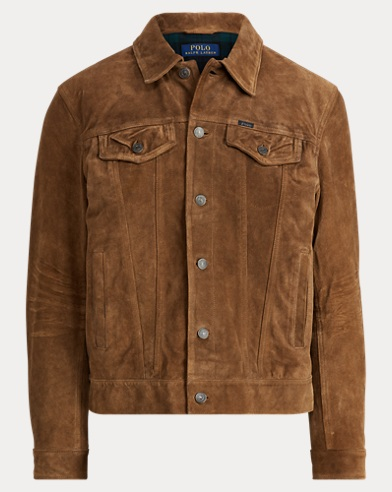 폴로 랄프로렌 Polo Ralph Lauren Suede Trucker Jacket,Smith Brown