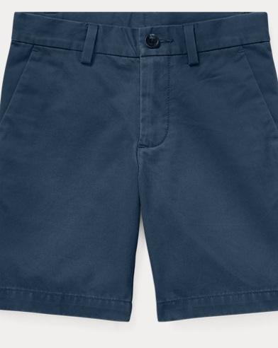 폴로 랄프로렌 Polo Ralph Lauren Slim Fit Cotton Chino Short,Clancy Blue