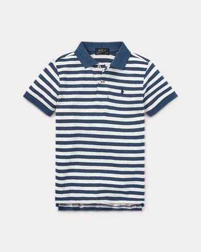 폴로 랄프로렌 남아용 경량 매시 반팔 폴로셔츠 Polo Ralph Lauren Featherweight Mesh Polo Shirt,Antique Cream Multi