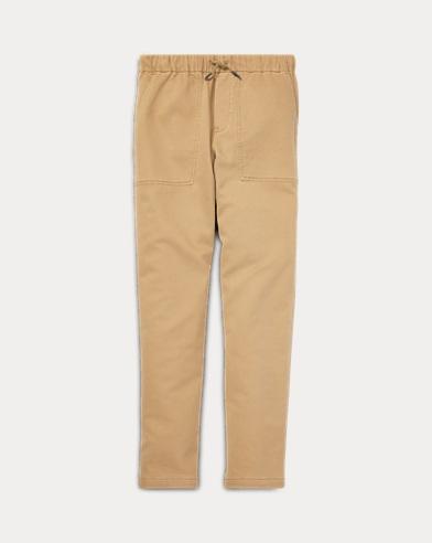 폴로 랄프로렌 Polo Ralph Lauren Tapered Stretch Cotton Pant,Desert Khaki