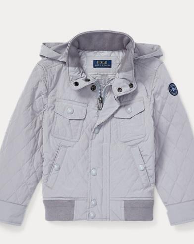 폴로 랄프로렌 남아용 퀼팅 후드 자켓 그레이 Polo Ralph Lauren Quilted Jacket, Channel Grey 459234