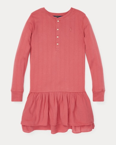 폴로 랄프로렌 Polo Ralph Lauren Cotton Henley Dress,Adirondack Berry