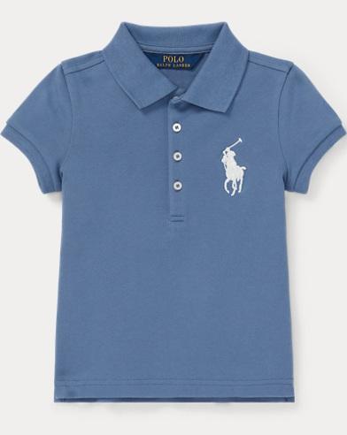 폴로 랄프로렌 여아용 반팔티 Polo Ralph Lauren Big Pony Stretch Mesh Polo,Carson Blue
