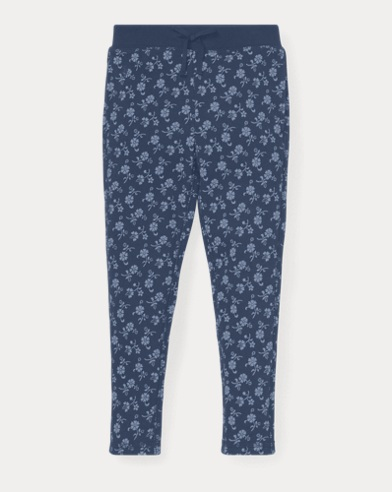 폴로 랄프로렌 Polo Ralph Lauren Floral Cotton Terry Pant,Blue/Cream Multi