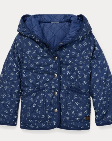 폴로 랄프로렌 Polo Ralph Lauren Reversible Quilted Jacket,Blue Multi
