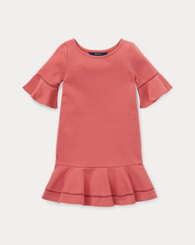 폴로 랄프로렌 Polo Ralph Lauren Inset-Lace Ponte Dress,Adirondack Berry