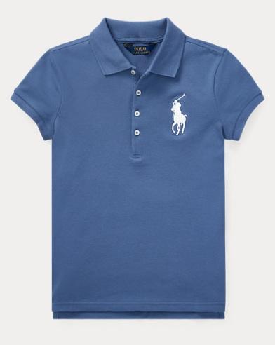 폴로 랄프로렌 Polo Ralph Lauren Big Pony Stretch Mesh Polo,Carson Blue