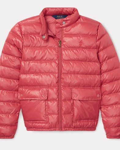 폴로 랄프로렌 걸즈 다운 패딩 - 베리 Polo Ralph Lauren Quilted Down Jacket,Adirondack Berry