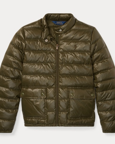 폴로 랄프로렌 걸즈 다운 패딩 - 올리브 Polo Ralph Lauren Quilted Down Jacket,Spanish Olive