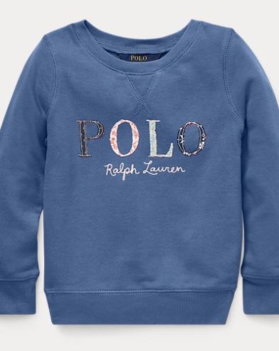 폴로 랄프로렌 Polo Ralph Lauren Floral Polo Terry Sweatshirt,Carson Blue