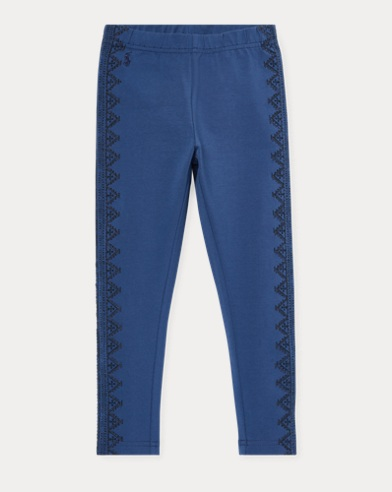 폴로 랄프로렌 Polo Ralph Lauren Floral Jersey Legging,Federal Blue