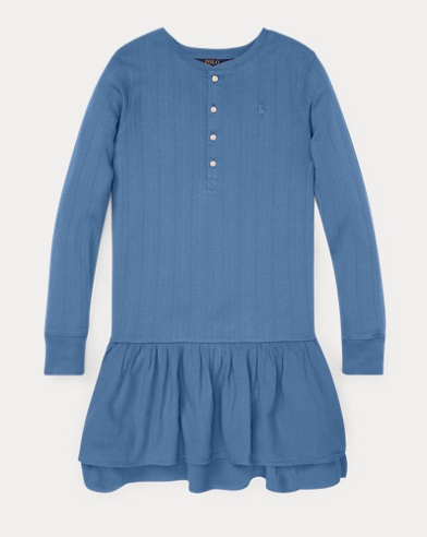 폴로 랄프로렌 Polo Ralph Lauren Cotton Henley Dress,Carson Blue