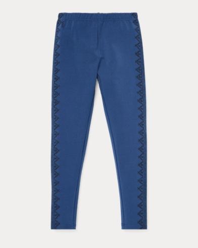 폴로 랄프로렌 Polo Ralph Lauren Embroidered Jersey Legging,Federal Blue