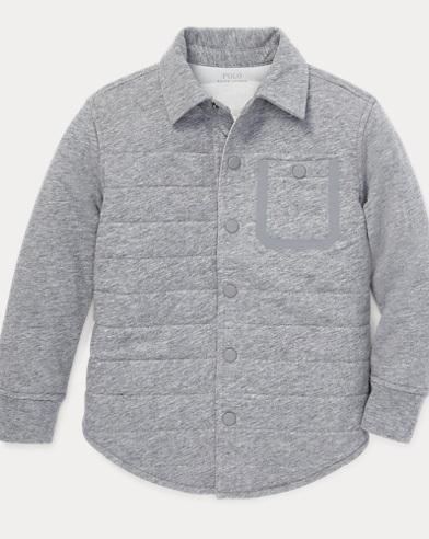 폴로 랄프로렌 남아용 퀼팅 셔츠 자켓 Polo Ralph Lauren Quilted Jersey Shirt Jacket,Steel Heather