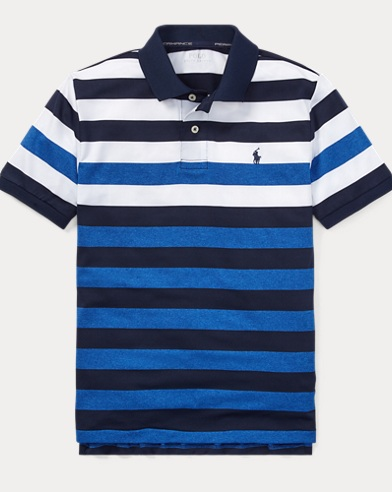 폴로 랄프로렌 Polo Ralph Lauren Striped Performance Lisle Polo,French Navy Multi