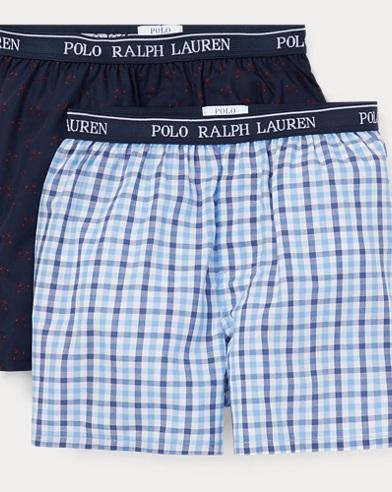 폴로 랄프로렌 보이즈 Polo Ralph Lauren Woven Boxer 2-Pack,Black/Harrods Plaid