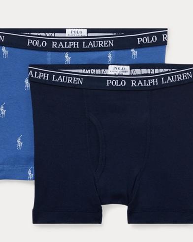 폴로 랄프로렌 보이즈 Polo Ralph Lauren Boxer Brief 2-Pack,Indigo/Navy