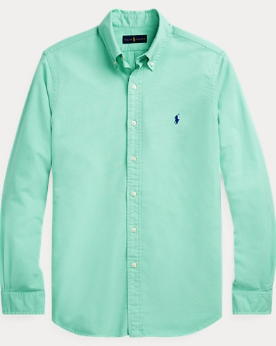 폴로 랄프로렌 Polo Ralph Lauren Classic Fit Oxford Shirt,Sunset Green